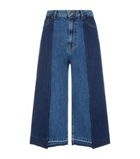 Mcq By Alexander Mcqueen Denim Culottes Blue