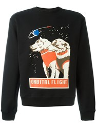 J.W.Anderson J.W. Anderson Space Dog Print Sweatshirt Black