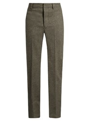 Christophe Lemaire Straight Leg Wool Trousers Grey