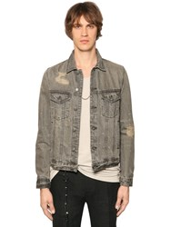 The Kooples Distressed Washed Cotton Denim Jacket