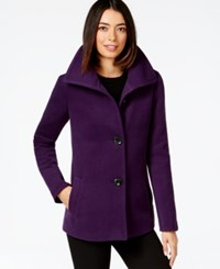 Jm Collection Petite Plush Wing Collar Coat Only At Macy's Purple Pizzaz