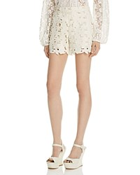 Alice Olivia Amaris Faux Leather Shorts Cream