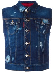 Dsquared2 Ski Sleeveless Denim Jacket Blue