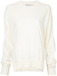 Alexander Wang T By Side Slit Sweater White