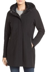 Kristen Blake Women's Water Repellent Hooded Soft Shell Jacket Black