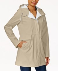 Rachel Roy Two Tone Raincoat Only At Macy's Khaki Summer White