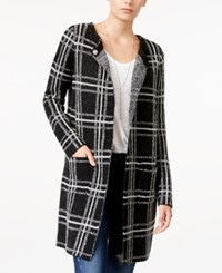 Sanctuary Serge Plaid City Coat Black Creme