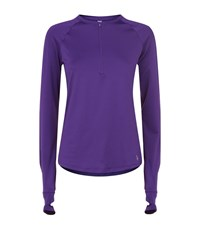 Under Armour Underarmour Fly By Half Zip Top Female Purple