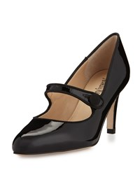 Neiman Marcus Joetta Patent Mary Jane Pump Black