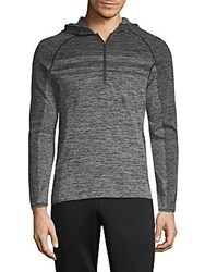 Mpg Raglan Sleeve Zip Up Hoodie Heather Charcoal