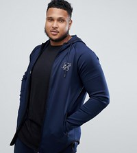 Sik Silk Siksilk Zip Thru Hoodie In Navy Exclusive To Asos