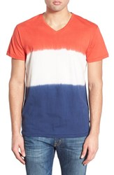 Men's Sol Angeles 'Naval' Dip Dye V Neck T Shirt Indigo