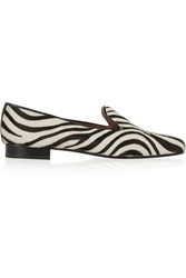 Penelope Chilvers Dandy Zebra Print Calf Hair Loafers