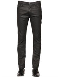 The Kooples 16Cm Leather Effect Stretch Denim Jeans