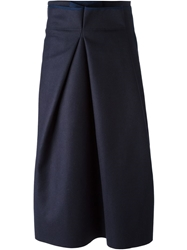 Avelon Inverted Pleat Skirt Pink And Purple