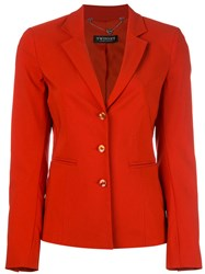Twin Set Fitted Blazer Red