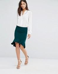 Unique 21 Flippy Hem Skirt Green