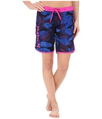 Hurley Supersuede Printed 9 Beachrider Boardshorts Hyper Cobalt Women's Swimwear Black