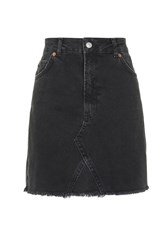 Topshop Tall Highwaisted Skirt Washed Black