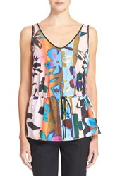 Women's Clover Canyon 'Riviera Sunrise' Floral Print Drawstring Tank
