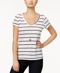 Maison Jules Short Sleeve Striped T Shirt Only At Macy's Blu Notte Combo