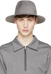 Larose Grey Felted Zip Fedora