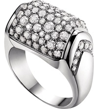 Bulgari Mvsa 18Ct White Gold Ring
