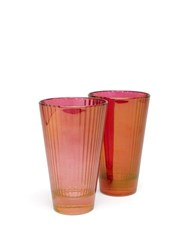 Luisa Beccaria Set Of Two Isis Water Glasses Red