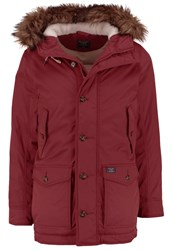 Abercrombie And Fitch Core Winter Coat Red