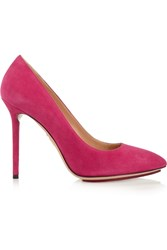 Charlotte Olympia Monroe Suede Pumps Purple