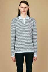Orley Dexter Chevron Polo Light Blue