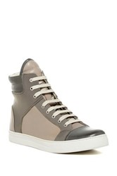 Kenneth Cole Reaction Double Header High Top Sneaker Men Gray