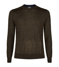 Paul Smith Crew Neck Merino Jumper Male Brown