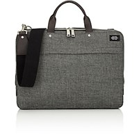Jack Spade Men's Tech Oxford Slim Briefcase Black Grey Black Grey