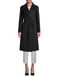 T Tahari Elliot Wrap Coat Black