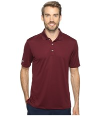 Adidas Performance Polo Maroon Men's Clothing Red