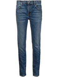 T By Alexander Wang Slim Fit Jeans Blue
