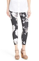 Women's Hue 'Super Smooth' Floral Print Skimmer Leggings Black