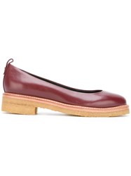 Lanvin Low Heel Loafers Red