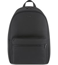 Armani Jeans Grained Leather Backpack Black