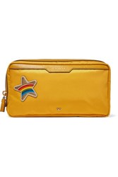 Anya Hindmarch Suncreams Leather Trimmed Shell Cosmetics Case Mustard