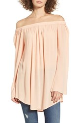Women's Bp. Off The Shoulder Tunic Coral Beach