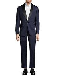 Saks Fifth Avenue Black Wool Tuxedo Navy