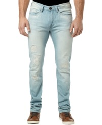 Buffalo David Bitton Slim Fit Washed And Ripped Evan Jeans Indigo