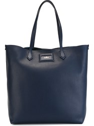 Hogan Large Square Tote Blue