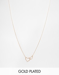 Estella Bartlett Gold Plated Linked Heart Necklace