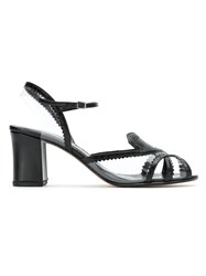 Sarah Chofakian Patent Leather Sandals Black