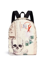 Alexander Mcqueen 'Letters From India' Skull Print Backpack Multi Colour