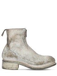 Guidi 1896 Pl1 Zip Up Vintage Leather Boots White