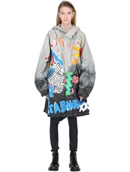 Patricia Field Art Fashion Iris Bonner Hand Painted Parka Coat